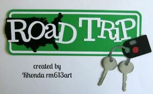 ROAD TRIP travel outdoor title paper piecing Premade Scrapbook Page by Rhonda