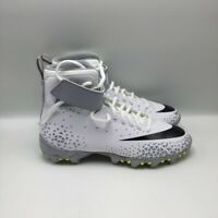Nike Boys Force Savage Shark Football Cleats White 880133-105 Lace Up High Top 5