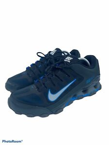 NIKE AIR REAX 8 TR BLACK/BLUE MEN'S SIZE 10.5 SHOES  621716-017 ~ EXCELLENT