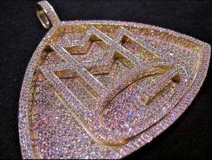 925 Sterling Silver New Generation Jewelry Sparkle Custom Designer Pendant Charm