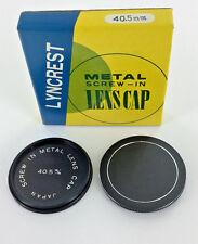 40.5 mm METAL screw-in LENS CAP Lyncrest made in JAPAN