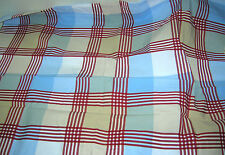 New Pottery Barn Kids PLAID Twin DUVET & SHAM Thomas star red blue