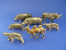 Lot de 7 figurines publicitaires OMO des années 70 (animaux sauvages)