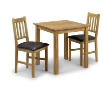 Julian Bowen Coxmoor Oak Square Modern Solid Oiled 75 Cm Nest Wood Dining Table