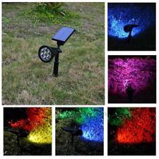 Solar Panel 7 LED Flood Spot Light RGB Garden Yard Lawn Lamp Waterproof  25--40W