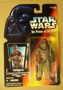 MINT * Power the Force * CHEWBACCA W/ BOWCASTER & HEAVY BLASTER RIFLE * KENNER
