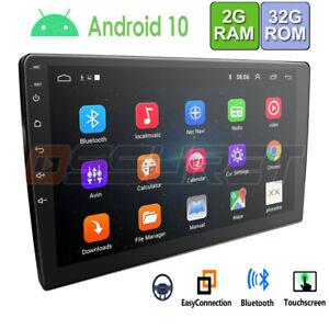 10.1 Zoll Android 10 Doppel 2 DIN Autoradio Mit GPS Navi Bluetooth USB WiFi 32GB
