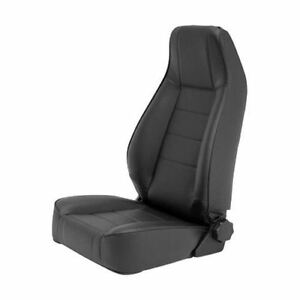 Reclining Front Seat for Jeep CJ Wrangler YJ TJ JK  Black Denim 45015 Smittybilt