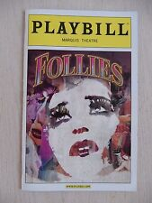 October 2011 - Marquis Theatre Playbill - Follies - Elaine Paige