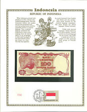 100 seratus rupiah indonesia 1984 MINT UNC Banknote WORLD CURRENCY COLLECTION