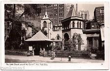 AK Ansichtskarte Post Card Little Church around corner  New York gelaufen 1947