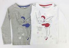 Camiseta de niña de 2 a 16 años de manga larga en blanco