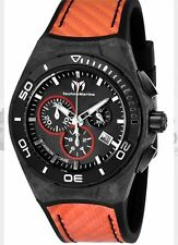 Technomarine Men's TM-116006 Black Carbon  Swiss Chronograph New 2017 Model