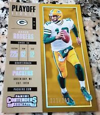 AARON RODGERS 2017 Playoff Ticket Contenders SP 121/249 Packers Superbowl MVP $$