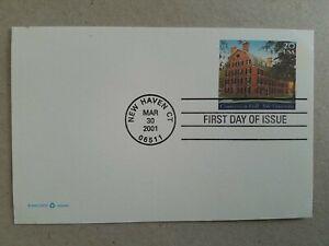 US 2001 Yale University FDI postal card, 20 cent