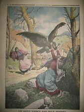 ATTAQUE AIGLE VALLON DE LA FOURME A MAYONS DANS LES MAURES LE PETIT JOURNAL 1914