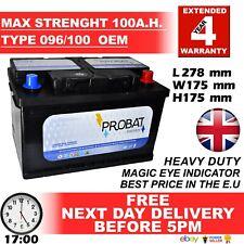 HIGHEST POWER 096 100 100AH Heavy Duty 12V Car Battery 5 Year Warranty S5008S400