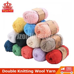 Double Knitting Wool Yarn DK Acrylic Baby Yarn 100g Soft Knit Crochet Colours UK