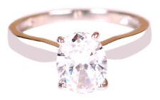 585er Weiß Gold 2,20 Karat VVS1 Klarheit Ovale Form Solitär Verlobung Ring