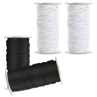 2.5MM ROUND ELASTIC BUNGEE SHOCK STRING STRETCH CORD CRAFT BLACK/WHITE FACE MASK