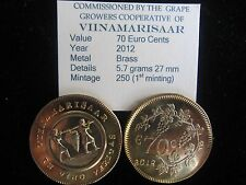 VIINAMARISAAR COIN 70 Euro's 2012 Brass  AKA Grape Island 250 worldwide mintage