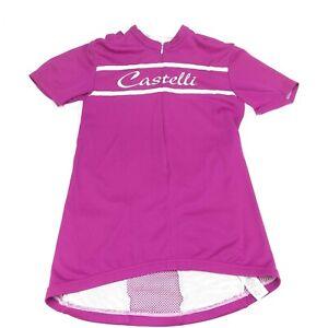 Castelli half zip purple cycling jersey Medium
