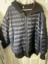 Burberry Blue/ Black Reversible Puffer Down Jacket Size XL