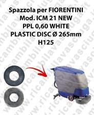 CEPILLO DE LAVADO PPL 0.6 WHITE para fregadora FIORENTINI modelo ICM 21NEW
