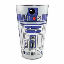 Star Wars Official R2-D2 Pint Glass 500ml Coloured Drinking Tumbler R2D2 Droid