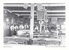 "*Postcard-""Hotel Saloon""-1890's-(Beer/Ice Cream)*Hull/Nantasket Beach MA (#208)"
