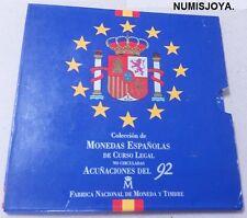España 1992. Coleccion OFICIAL de Monedas de PESETAS de Curso Legal de la FNMT.