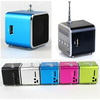New Black Mini USB Stereo Speaker Micro SD/TF MP3 MP4 Music Player FM Radio