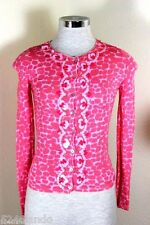 BLUEMARINE Pink Embellished Sweater Jacket Button Up Cardigan Small 1 2 3