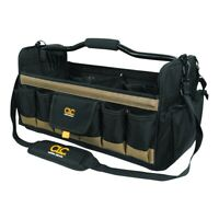 Custom Leathercraft CLC 1570 Large Open Top 20 Pocket Tool Box Bag Carrier New