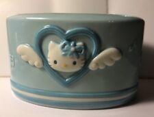 Vintage Sanrio Hello Kitty Light Blue Angel Ceramic Toothbrush Paste Holder VHTF