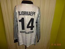 1.FC Kaiserslautern Adidas Langarm Ausweich Trikot 98/99 + Nr.14 Djorkaeff Gr.XL