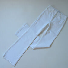 NWT J Brand Maria High Rise in Blanc White Exposed Button Flare Jeans 29 x 35