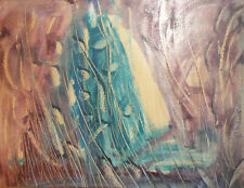 Vintage abstract expressionism gouache painting