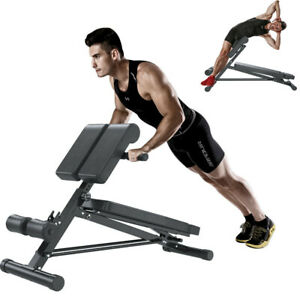 ADJUSTABLE BACK HYPEREXTENSION GYM BENCH ROMAN CHAIR SIT UP CHEST WEIGHT BENCH