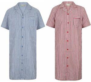 Men's Walker Reid Button Through Nightshirt. Premium 100% Woven Cotton. WR3800.