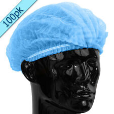 Quality Disposable BLUE Mob Cap hair net head covers Pk of 100 Mop Clip