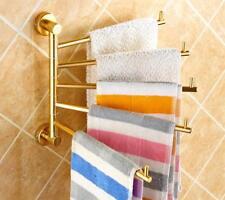 Bathroom Bath Towel Rack Swivel Rail Bars Shelf Holder Wall Hanger Aluminium M29