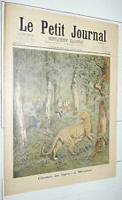 Petit journal 1897 tiger hunt meudon/the rescuer of harmful/butterflies