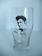 "Elvis Presley Clear Drinking Glass. The King. Signed. Approx. 6.25"" Tall."