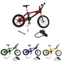 1:24 Scale Mini Finger Board Toy Alloy Racing Bike Mountain Bicycle Model Set