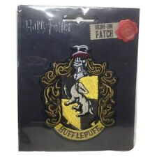 """Harry Potter Hufflepuff New Crest Logo 4"""" Tall Embroidered Patch"""