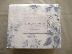 NWT 4pc Cabbages & Roses Queen Sheet Set ALDERNEY Floral Lavender & Ivory