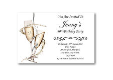 50 Personalised Birthday Party Invites Invitations 18th 21st 30th 40th 50th BD31