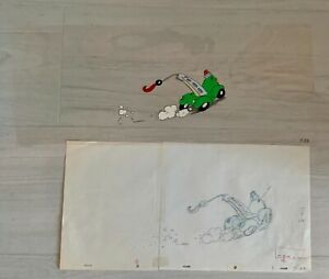 """TEX AVERY MOTOR CRAFT TV PRODUCTION ANIMATION CEL AND DRAWING 25""""X10"""" T22"""