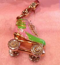 2007 Juicy Couture Pink/Green Roller Skate Charm Nwt Yjru1183